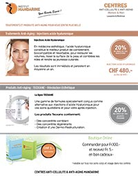 Anti-Aging : Injections acide Hyaluronique - produits Teoxane